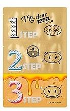 Voňavky, Parfémy, kozmetika Sada prostriedkov na čistenie pórov - Holika Holika Pig Nose Clear Black Head 3-Step Kit Honey Gold