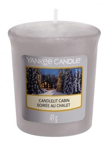 Vonná sviečka - Yankee Candle Candlelit Cabin Votive Candle — Obrázky N1