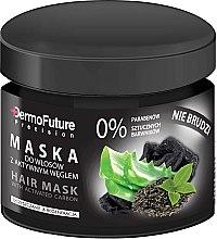 Voňavky, Parfémy, kozmetika Aktívna maska na vlasy z aktívneho uhlia - DermoFuture Hair Mask With Activated Carbon