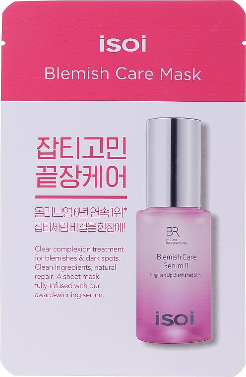Hydratačná a rozjasňujúca maska na tvár - Isoi Bulgarian Rose Blemish Care Mask