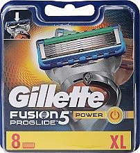 Voňavky, Parfémy, kozmetika Pánske náhradné hlavice na holenie, 8 ks - Gillette Fusion ProGlide Power