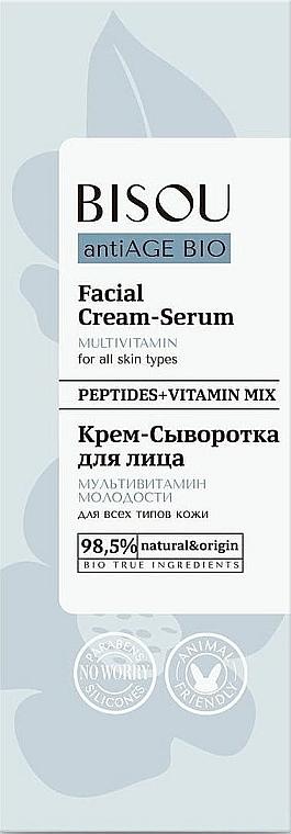 "Krémové sérum na tvár ""Multivitamín mladosti"" - Bisou AntiAge Bio Facial Cream Serum"