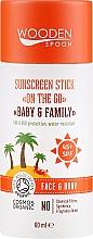 Voňavky, Parfémy, kozmetika Tyčinka s ochranou SPF 50 - Wooden Spoon Sunscreen Stick On The Go SPF 45