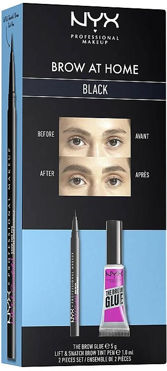 Sada - NYX Professional Makeup Brow At Home (glue/5g + tint/pen/1ml) — Obrázky N1