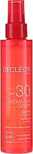 Voňavky, Parfémy, kozmetika Olej na vlasy a telo - Decleor Aroma Sun Expert Summer Oil Spf30