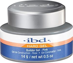 Priehľadný gél na nechtový dizajn, ružový - IBD Builder Pink Gel