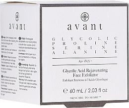 Voňavky, Parfémy, kozmetika Omladzujúci peeling na tvár s kyselinou glykolovou - Avant Skincare Glycolic Acid Rejuvenating Face Exfoliator