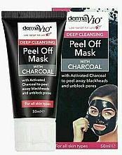 Voňavky, Parfémy, kozmetika Exfoliačná maska s uhlím - Derma V10 Deep Cleansing Peel Off Charcoal Mask