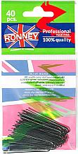 Voňavky, Parfémy, kozmetika Vlásenky priame čierne 45 mm, 40ks. - Ronney Black Hair Pins