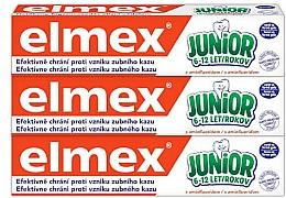 Voňavky, Parfémy, kozmetika Sada - Elmex Junior Toothpaste Set (3xtoothpaste/75ml)