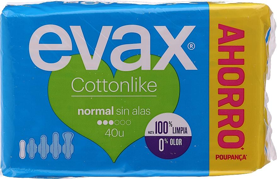 """Hygienické vložky """"Normal"""" bez krídel, 40ks - Evax Cottonlike — Obrázky N1"""