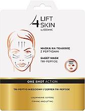 Voňavky, Parfémy, kozmetika Látková maska s peptídmi - Lift4Skin Sheet-Mask Copper Tri-Peptide