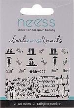 Voňavky, Parfémy, kozmetika Nálepky na nechty, 3684, BD-007 - Neess