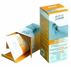 Voňavky, Parfémy, kozmetika Krém s extraktom z granátového jablka a rakytníka s ochranou SPF 20 - Eco Cosmetics Suntan Cream SPF 20