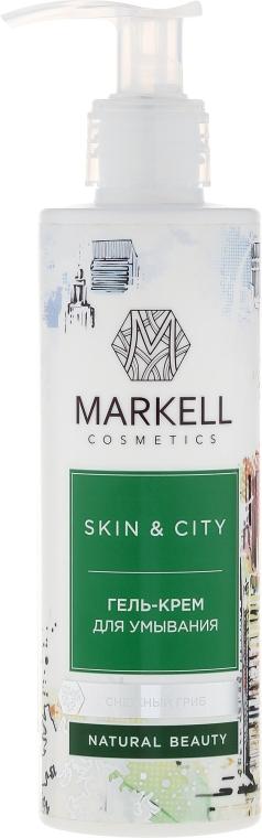 """Gélový krém na umývanie """"Snehové huby"""" - Markell Cosmetics Skin&City Face Mask — Obrázky N1"""