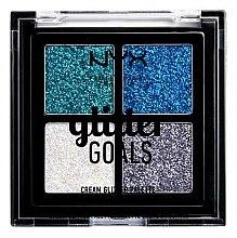 Voňavky, Parfémy, kozmetika Paleta krémových glitterov - NYX Professional Makeup Glitter Goals Cream Quad Palette