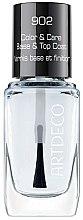 Voňavky, Parfémy, kozmetika Jemná báza a vrchné pokrytie s avokádovým olejom - Artdeco Color & Care Base & Top Coat 902