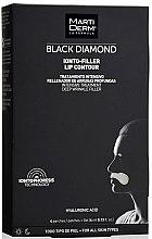 Voňavky, Parfémy, kozmetika Náplasti na pokožku okolo pier - MartiDerm Black Diamond Ionto-Filler Lip Contour