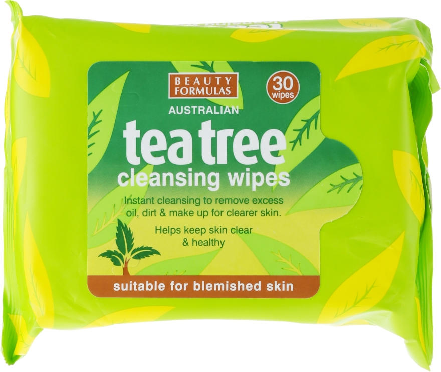 Čistiace obrúsky na tvár - Beauty Formulas Tea Tree Cleansing Wipes