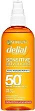 Voňavky, Parfémy, kozmetika Ochranný olej na telo pred slnkom - Garnier Delial Sensitive Advanced Oil SPF50+