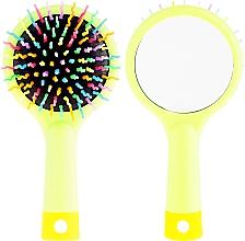 Voňavky, Parfémy, kozmetika Kefa na vlasy so zrkadlom, limetková - Twish Handy Hair Brush with Mirror Spring Bud