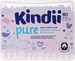 """Voňavky, Parfémy, kozmetika Detské vatové tyčinky """"Kindi"""", 60ks - Cleanic Kids Care Cotton Buds"""