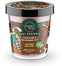 """Voňavky, Parfémy, kozmetika Zmäkčujúca kúpeľová pena """"Čokoláda a orech makadamií"""" - Organic Shop Body Desserts Chocolate & Macadamia Nut"""
