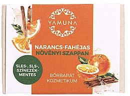"""Voňavky, Parfémy, kozmetika Mydlo """"Pomaranč-škorica"""" - Yamuna Orange-Cinnamon Vegetable Soap"""