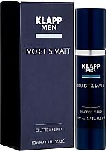 Voňavky, Parfémy, kozmetika HYdratačný a zmatňujúci fluid na tvár - Klapp Men Moist & Matt Oilfree Fluid