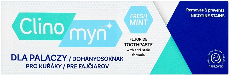 Zubná pasta pre fajčiarov - Clinomyn Smokers Toothpaste Fresh Mint
