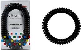 Voňavky, Parfémy, kozmetika Gumička-náramok do vlasov, čierna - Rolling Hills 5 Traceless Hair Rings Slimmer Black