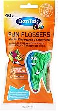 Voňavky, Parfémy, kozmetika Detské špáradlo s niťou, s ovocnou arómou - DenTek Kids Fruit Fun Flossers