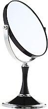 Voňavky, Parfémy, kozmetika Kozmetické obojstranné zrkadlo, 85642, čierne - Top Choice