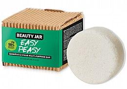 Voňavky, Parfémy, kozmetika Mydlo na vlasy a pre holenie - Beauty Jar Easy Peasy Shampoo & Shave Multi-Purpose Bar