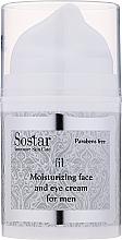 Voňavky, Parfémy, kozmetika Hydratačný krém na tvár a oblasť očného okolia - Sostar Moisturizing Moisturizing Face & Eye Cream For Men