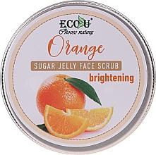Voňavky, Parfémy, kozmetika Rozjasňujúci scrub na tvár s cukrovým želé a pomarančom - Eco U Orange Brightening Sugar Jelly Face Scrub