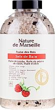 Voňavky, Parfémy, kozmetika Soľ do kúpeľa s arómou jahody - Nature de Marseille