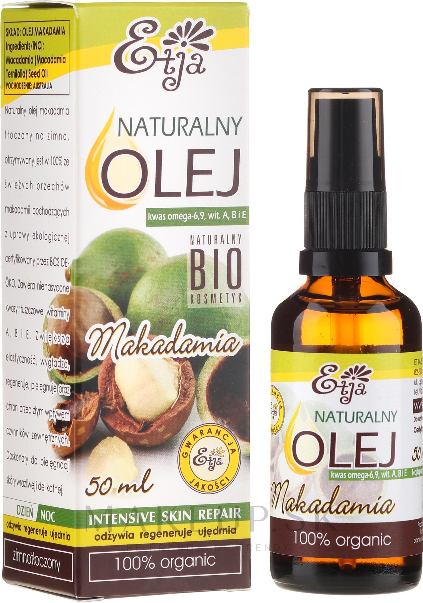 Prírodný olej Makadamia - Etja Macadamia Bio — Obrázky 50 ml
