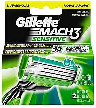 Voňavky, Parfémy, kozmetika Vymeniteľné kazety na holenie, 2 ks. - Gillette Mach3 Sensitive