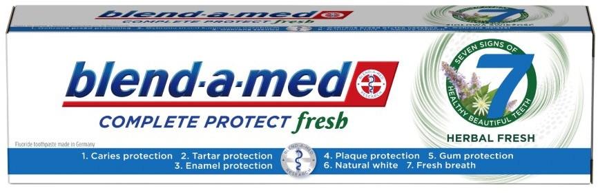 "Zubná pasta ""Bylinný komplex"" - Blend-a-Med Complete Protect Fresh 7 Herbal Fresh Toothpaste"