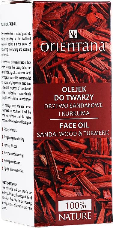"Olej na tvár ""Santalové drevo a kurkuma"" - Orientana Face Oil Sandalwood & Turmeric — Obrázky N2"