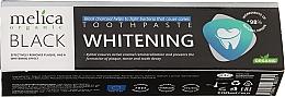 Voňavky, Parfémy, kozmetika Bieliaca zubná pasta s čiernym dreveným uhlím - Melica Organic Toothpaste Whitening Black