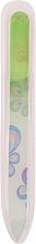 Voňavky, Parfémy, kozmetika Sklenený pilník s kvetinovou potlačou, limetový - Tools For Beauty Glass Nail File With Flower Printed