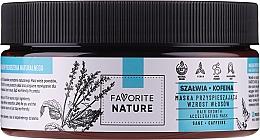 Voňavky, Parfémy, kozmetika Kofeínová maska na urýchlenie rastu vlasov s šalviou - Favorite Nature Hair Growth Accelerating Mask Sage & Caffeine