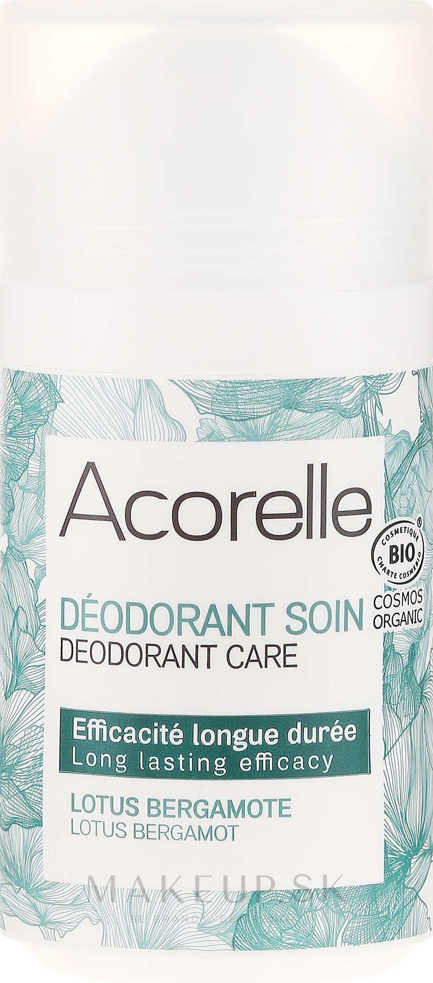 """Osviežujúci valčekový deodorant """"Lotos a bergamot"""" - Acorelle Deodorant Care — Obrázky 50 ml"""