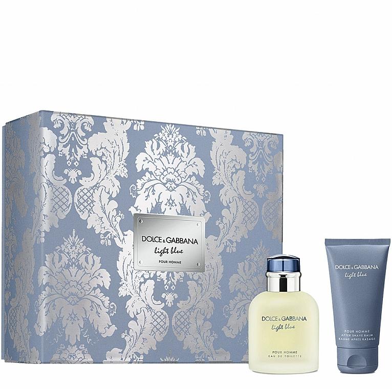Dolce&Gabbana Light Blue Pour Homme - Sada (edt/75ml + ash/balm/50ml)
