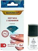 Voňavky, Parfémy, kozmetika Hodvábny kondicionér na nechty 10v1 - Kosmed Silk Nail Conditioner
