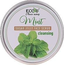 Voňavky, Parfémy, kozmetika Čistiaci scrub na tvár s mätou a cukrovým želé - Eco U Cleansing Mint Sugar Jelly Face Scrub