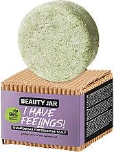 Voňavky, Parfémy, kozmetika Tuhý šampón pre citlivú pokožku hlavy s olejom borievky a levanduľou - Beauty Jar I Have Feelings