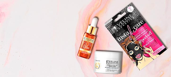 Pri nákupe produktov Eveline Cosmetics v hodnote vyše 9 € získaj darčeky